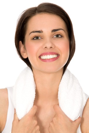 Woman with towel photo