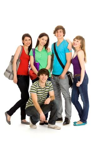 Happy students Stock Photo - 6960885