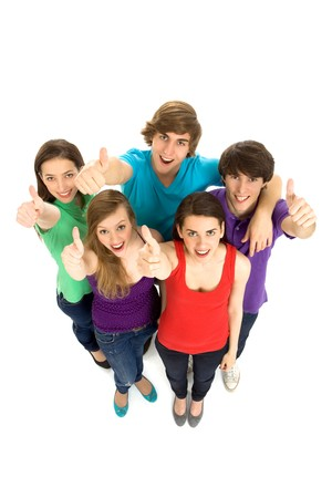 Teens With Thumbs Up Stock Photo - 6960907