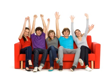 Group of excited friends Stock Photo - 6960920