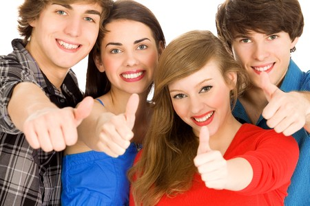 Friends with thumbs up Stock Photo - 7013620