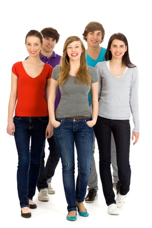 Group of young people photo