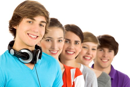 Young smiling friends  Stock Photo - 7052663