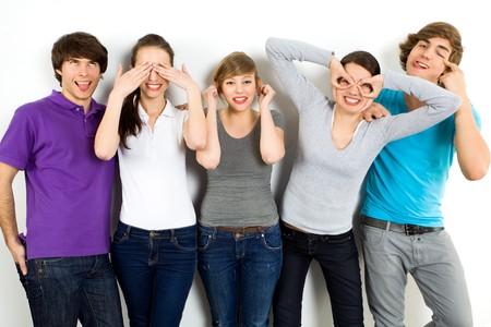 making faces: Amici, rendendo le facce