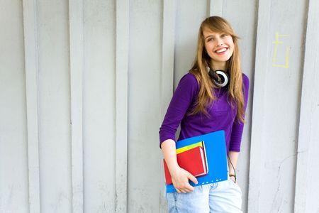 Female student holding books Stock Photo - 7172387