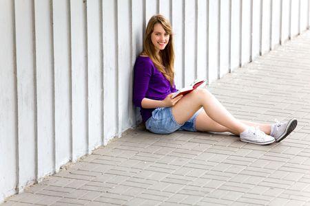 Woman reading book Stock Photo - 7172393