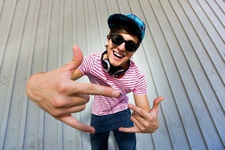 Teenager gesturing Stock Photo - 7332027