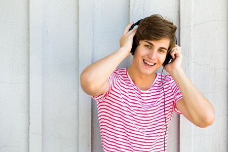 Young man wearing headphones Stock Photo - 7332066