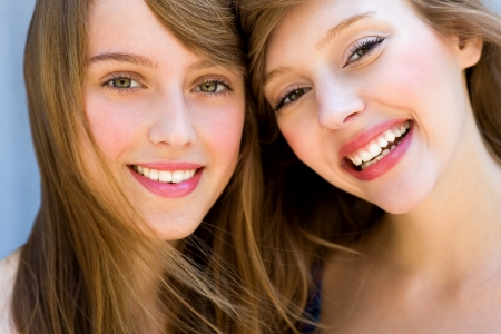 Two beautiful girls photo