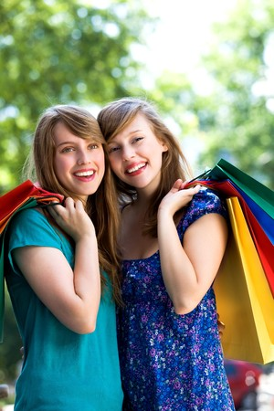 Girls with shopping bags Stock Photo - 7576825
