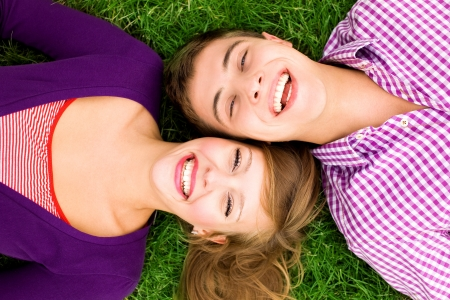 laughing couple: Happy young couple