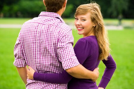Young couple outdoors Stock Photo - 7832600
