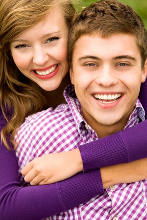 Young couple hugging Stock Photo - 7832648