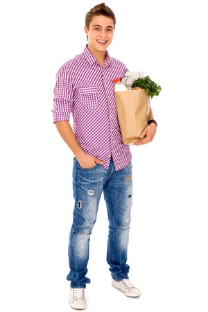 Man carrying grocery bag  Stock Photo - 7926958