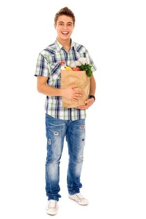 Man carrying grocery bag Stock Photo - 7926951