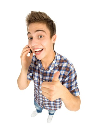 Young Man With Thumbs Up Stock Photo - 8016317