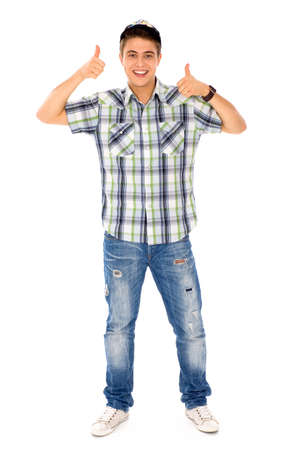 Young Man With Thumbs Up Stock Photo - 8097028