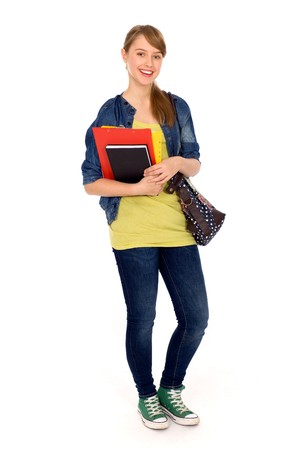 young woman: Female student