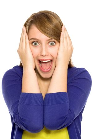 hysteria: Girl screaming Stock Photo