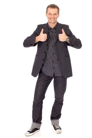 Man showing thumbs up Stock Photo - 8669479