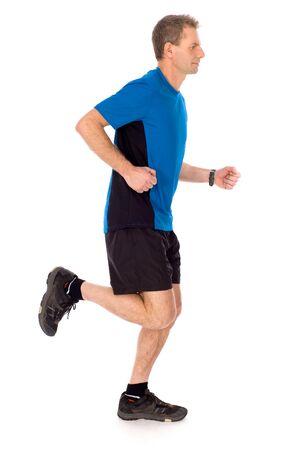 people jogging: Hombre para trotar Foto de archivo