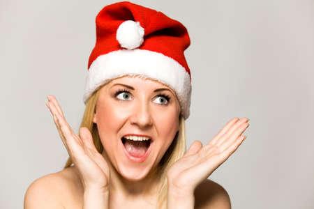 Woman in Santa hat Stock Photo - 8876766