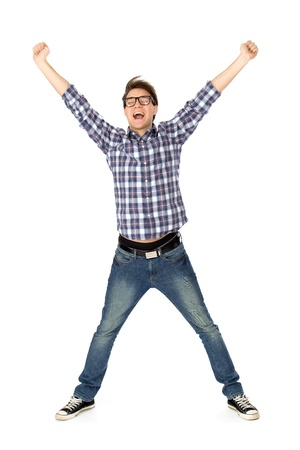 Excited young man photo