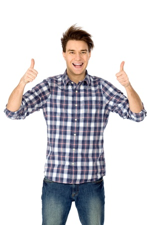 Young Man With Thumbs Up Stock Photo - 8904669