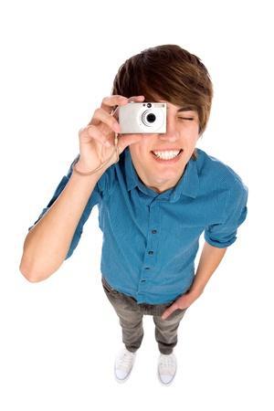 Junger Mann Fotografieren