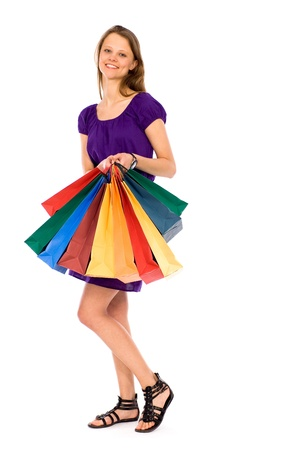 Young woman with shopping bags Stock Photo - 9171814