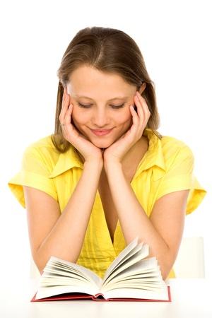 girl reading book: Girl reading book Stock Photo