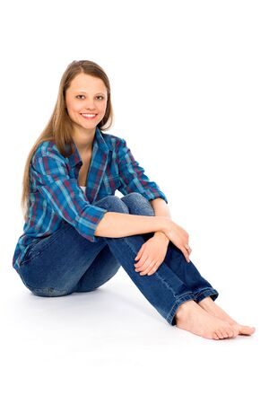 Casual woman sitting Stock Photo - 9295465