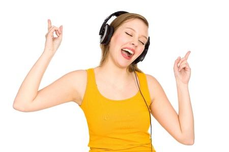 Girl listening to music Stock Photo - 9491976