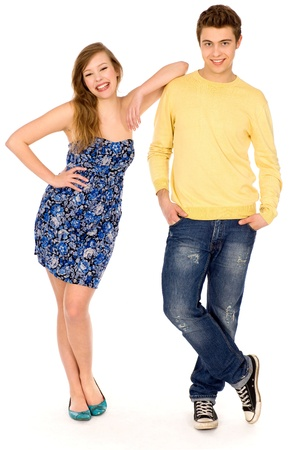 Young couple standing photo