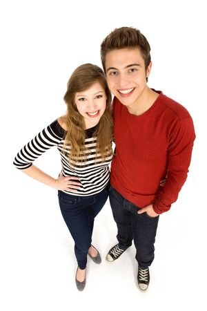 Young couple standing Stock Photo - 9861157