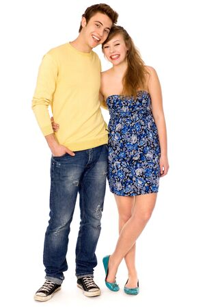 Young couple smiling Stock Photo - 9861200