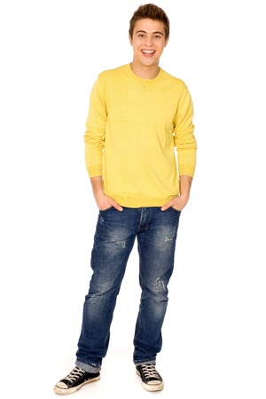 boy body: Young guy standing Stock Photo