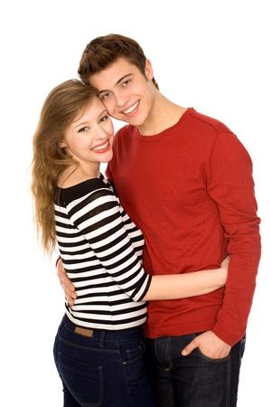 couple enlac�: Jeune Couple embrassant