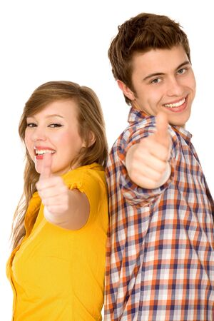 Couple showing thumbs up Stock Photo - 9861256