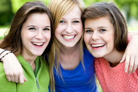 Three Young Women Friends photo