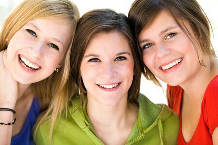 gesichter: Drei nat�rlichen Frauen Lizenzfreie Bilder