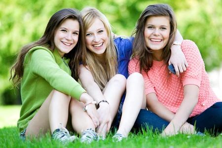 Three Young Women  photo