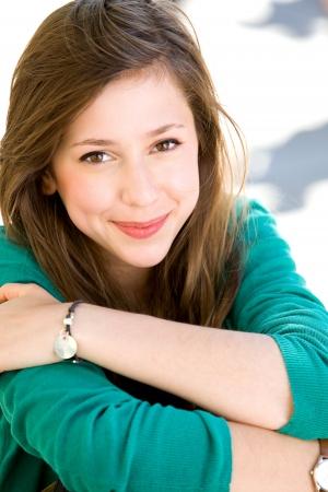 Teenage girl outdoors Stock Photo - 10514436