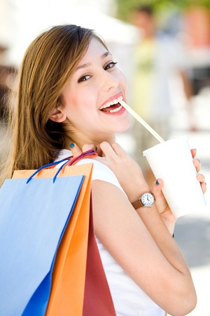 Girl with shopping bags Stock Photo - 10514416