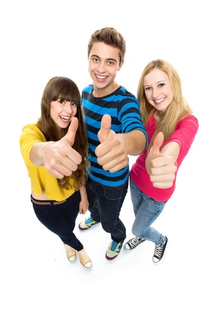 Friends with thumbs up Stock Photo - 10663716