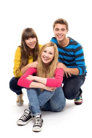 adolescentes chicas: Grupo de amigos