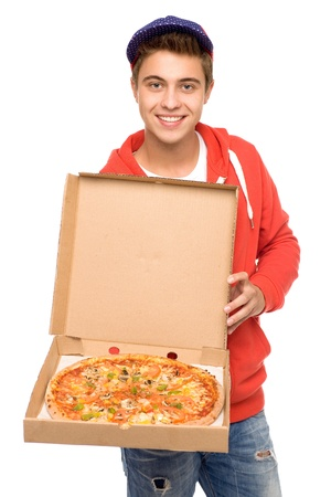 Pizza delivery man photo