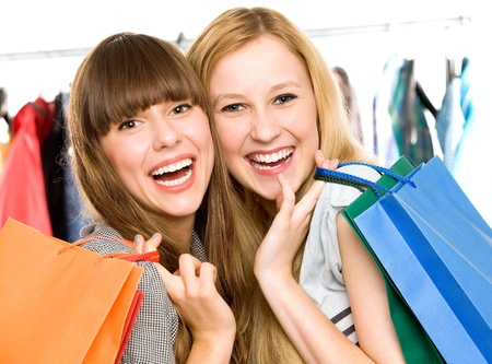 Girls with shopping bags Stock Photo - 10663725