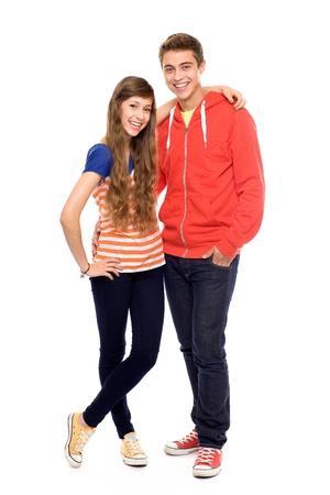 teen couple: Happy young couple  Stock Photo
