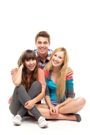 adolescentes riendo: Tres j�venes